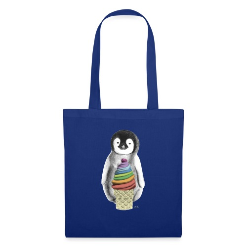 Baby Penguin With Ice Cre - Tote Bag