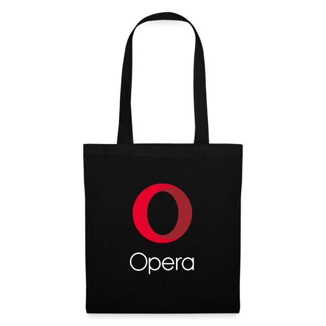 Opera logo vertical white