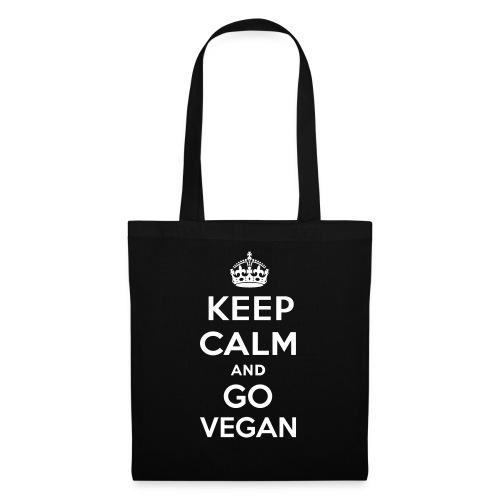Keep Calm and Go Vegan - Tygväska