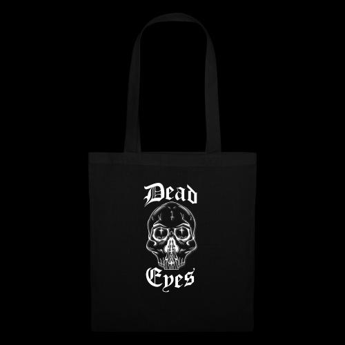 dead eyes logo transparent2 weiß - Stoffbeutel
