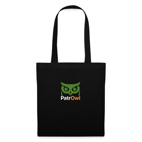 logo owl text large white - Sac en tissu