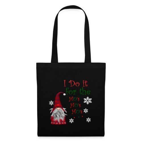 I Do it for the Ho's Funny Santa Christmas T-Shirt - Tote Bag