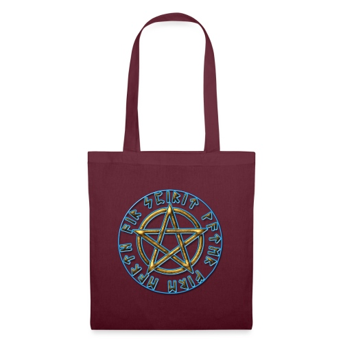 Runen Pentagramm Elemente Schutz Amulett Magie - Stoffbeutel