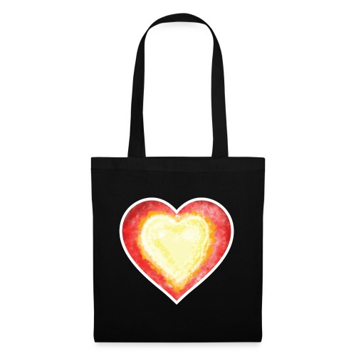 Burning Fire heart - Tote Bag