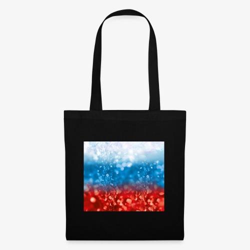 05 Russland Flagge Fahne Glitzer Russia - Stoffbeutel