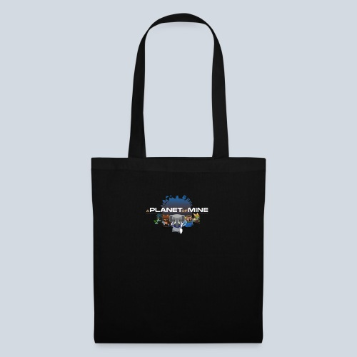 logo planetofmine dark HD - Tote Bag