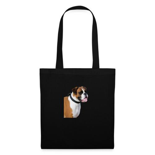boxer hund png isolated boxer dog animal portrait - Tygväska