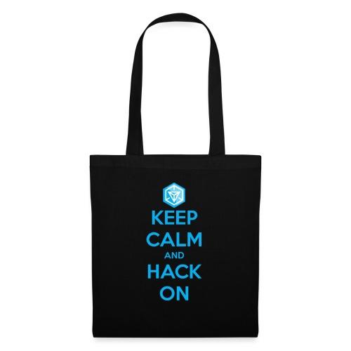 keep calm and hack on - Borsa di stoffa