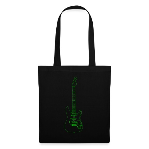 Electric Guitar Wireframe - Tote Bag