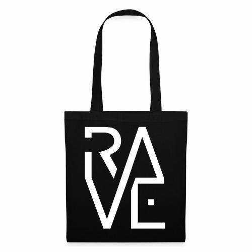 Rave Minimal Text Electronic Music Techno Schrift - Stoffbeutel