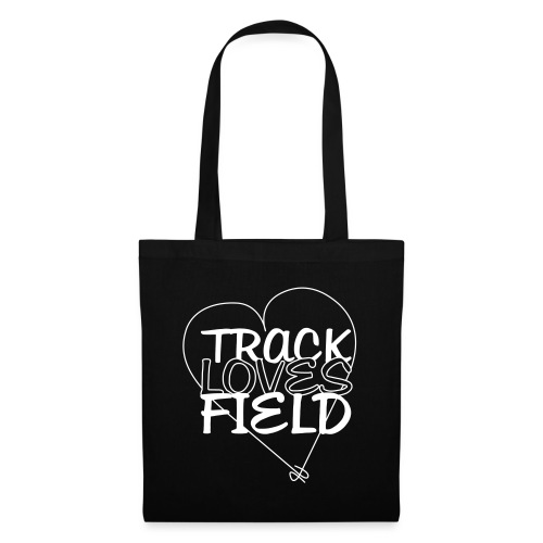 TRACK LOVES FIELD HEART - Stoffbeutel