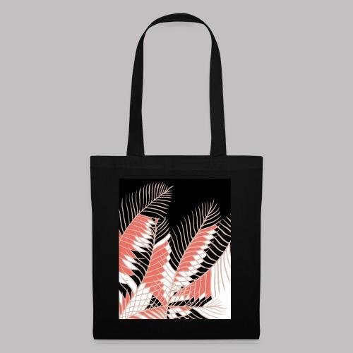foglie palma 3 living coral - Borsa di stoffa