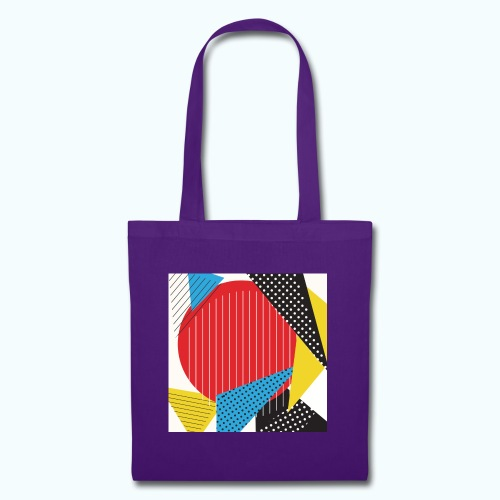 Geometry collage Abstract colors - Tote Bag