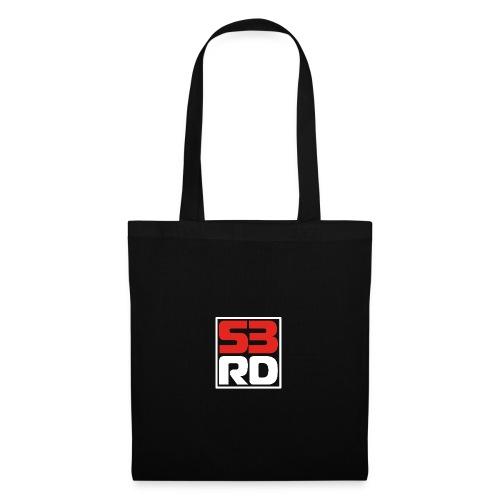 53RD Logo kompakt umrandet (weiss-rot) - Stoffbeutel