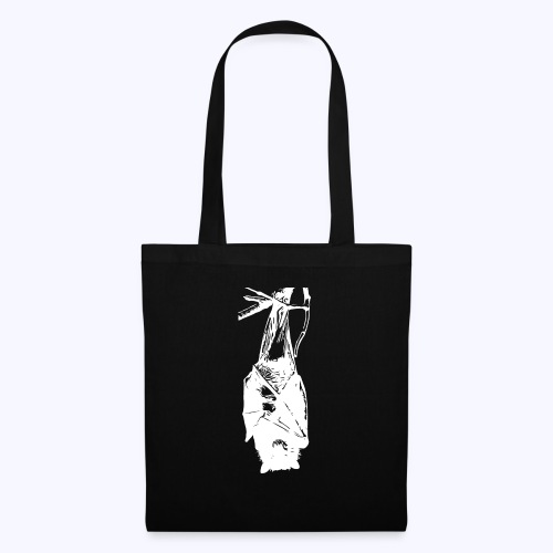 HangingBat weiss - Stoffbeutel