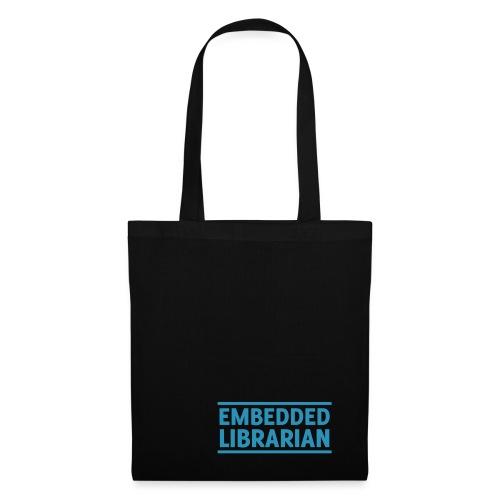 embedded librarian mit linien - Stoffbeutel