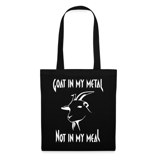 Goat in my metal not in my meal, white - Stoffbeutel
