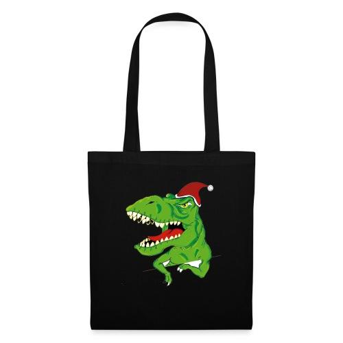 Navidad dinosaurio - Bolsa de tela