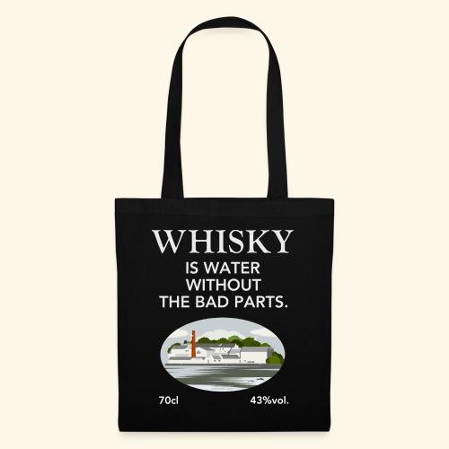 Whisky Is Water lustiger Spruch und Brennerei - Stoffbeutel