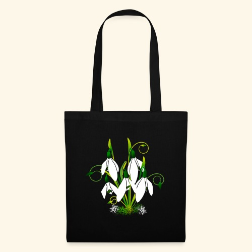 Schneeglöckchen, Blumen, Blüten, floral, Ornamente - Stoffbeutel