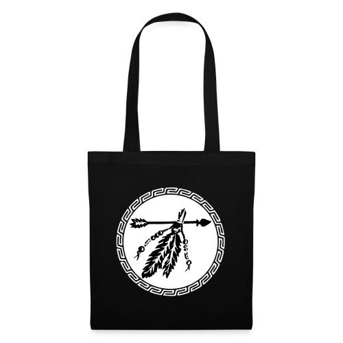 Pfeil mit Federn, Schutz & Kraft Symbol, Indianer - Stoffbeutel