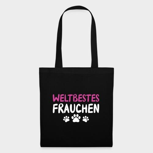 Weltbestes Frauchen Hundeliebe Hund - Stoffbeutel