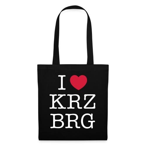 I love KRZBRG - Stoffbeutel