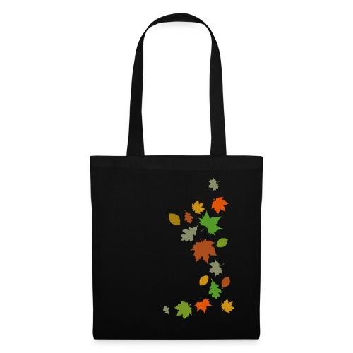 Herbstlaub maple leaf Ahorn Eiche Silhouette - Tote Bag
