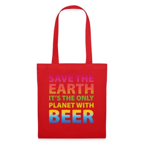 sauver la bière de la terre - Sac en tissu