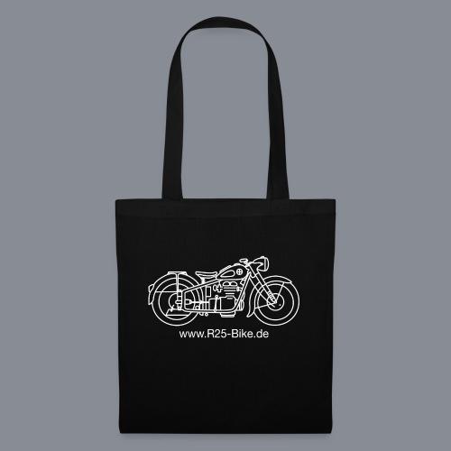 Motorrad_CS2_weiss + URL - Stoffbeutel