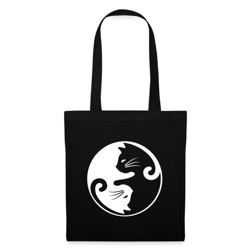 Vorschau: yin yang cat - Stoffbeutel