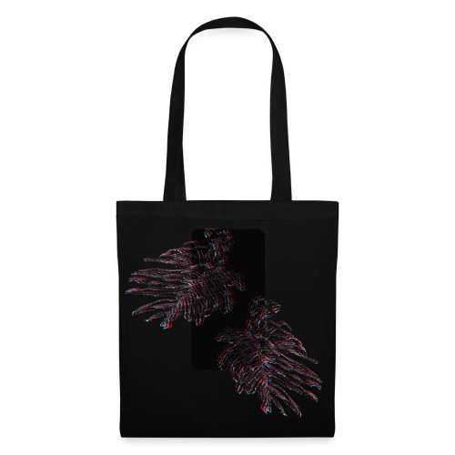 Illusion tropicale noire - Tote Bag