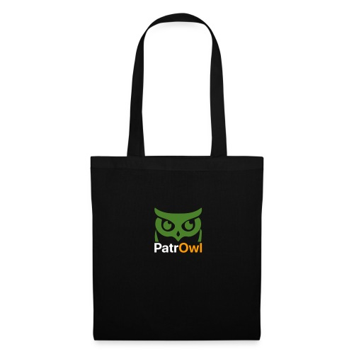 logo owl text large white - Tote Bag