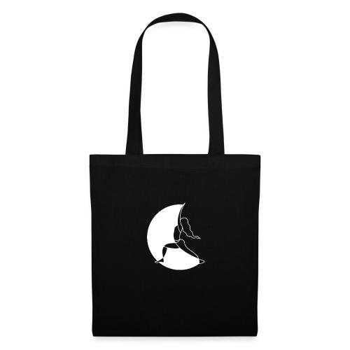 Warrior Princess Yoga Logo White Moon - Tote Bag
