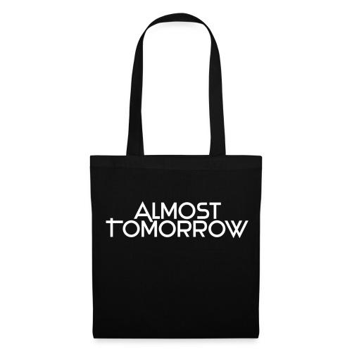 Almost Tomorrow Logo White - Stoffbeutel