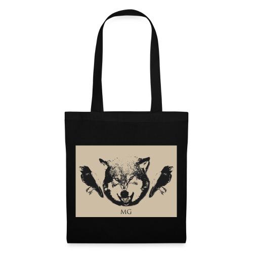 Wolf und Raben - Stoffbeutel