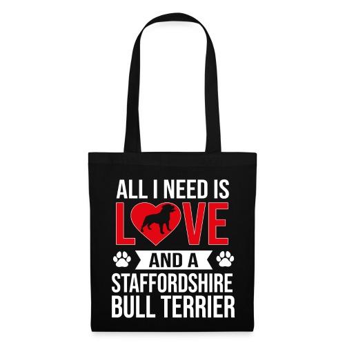 STAFFORDSHIRE BULLTERRIER-LOVE - Stoffbeutel
