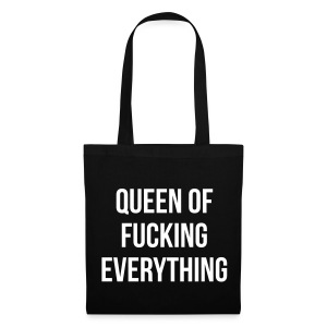 Queen of f***** everything - Stoffbeutel