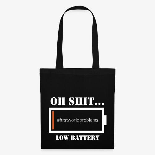 Low Battery - Stoffbeutel