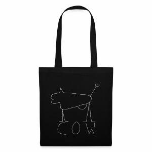 white cow - Stoffveske