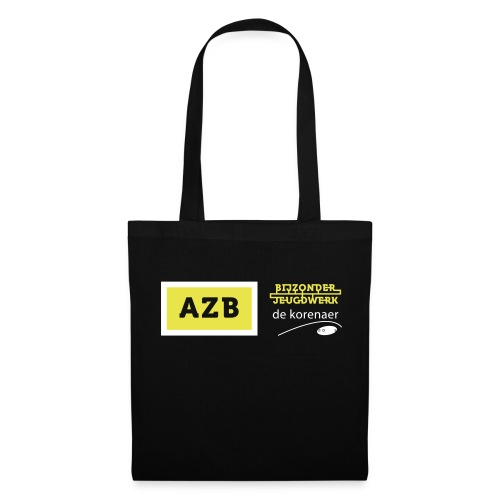 AZB logo Geel Wit - Tas van stof