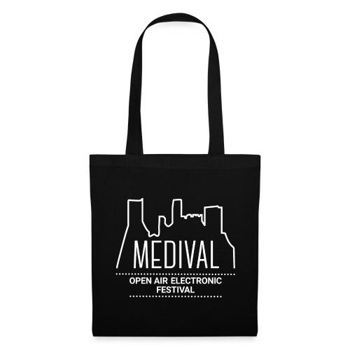 Medival Skyline weiß - Stoffbeutel
