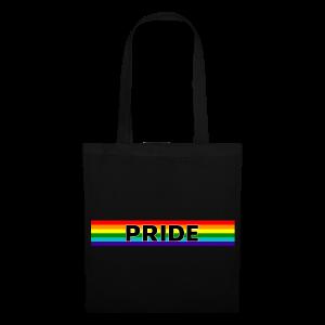 Gay pride rainbow vlag met de tekst Pride - Tas van stof