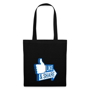 Like & Share (Facebook) - Borsa di stoffa