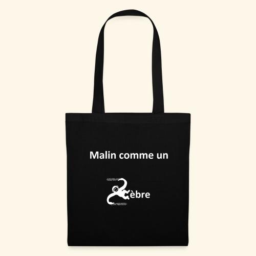 Malin le zèbre (blanc) - Tote Bag