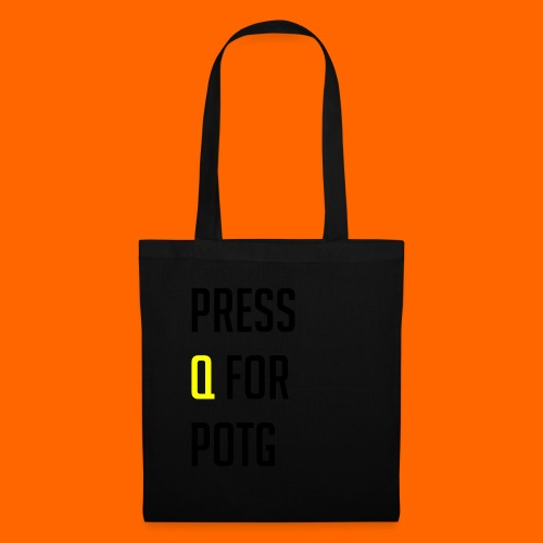 Press Q for play of the game - Tote Bag