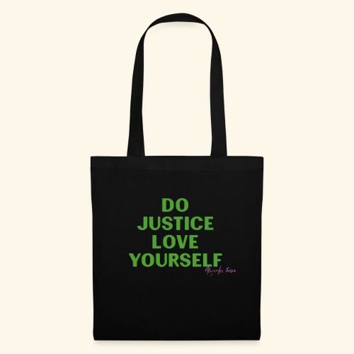 Do Justice: Love yourself Green - Bolsa de tela