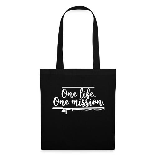 FISHINGSHIRT: One life. One mission. - Stoffbeutel