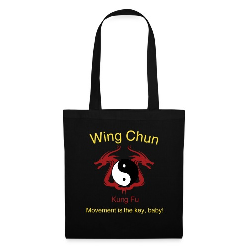 Wing Chun Logo gelb - Movement is the key, baby! - Stoffbeutel