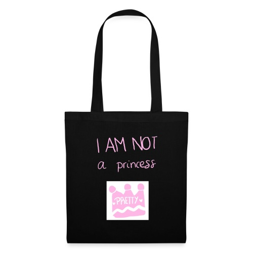 I am not a princess - Bolsa de tela
